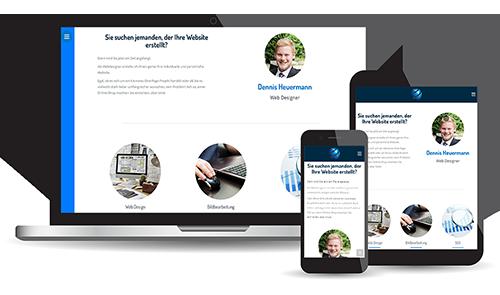 Responsive Design optimiert die Webiste für die Ansicht auf mobilen Geräten.